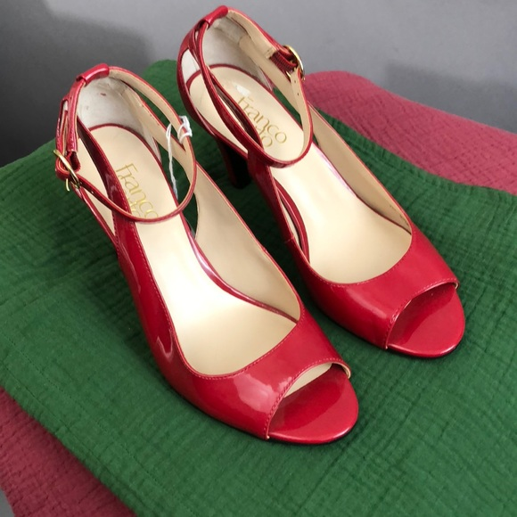 e7899eb42a2 New! Franco Sarto Candy-Apple Red Patent Leather.
